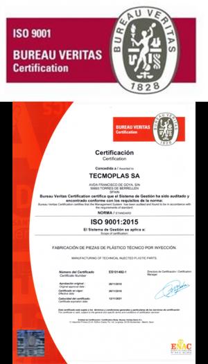 ISO 9001:2015 Tecmoplas